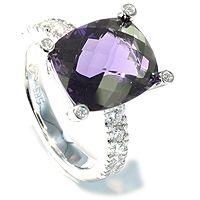 Lilac - En vakker cocktailring med ametyst - 0,51ct - Lilac Diamantring