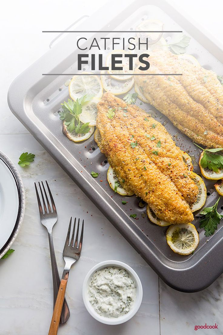Broiled Catfish Fillets are a southern favorite, broiled to crispy perfection with a Cajun-style cornmeal crust. Topped with a flavor-packed parsley garlic aioli, these Broiled Catfish Fillets are an easy and delicious weeknight dinner. Have a tasty new meal on the table in just 20 minutes!