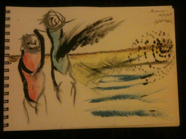 """Paciencia"" by #NadirChacin #50dibujos50dias #50Drawings50days #Drawings [Barcelona, 15 dic. 2014]"