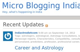 India Micro blogging is a web services that allow the users to broadcast there post, message in short form. Micro messages can be discussed, tagged and replied. just share what is happening in India