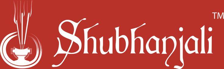 Shubhanjali Rectangle logo of Shubhanjali in Red background