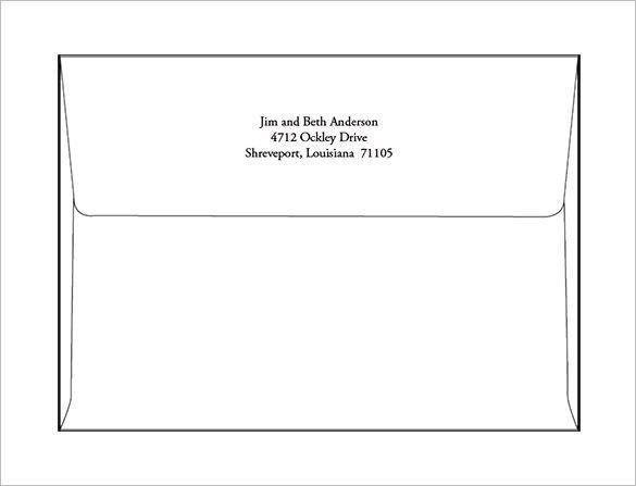 5x7 Envelope Template Word A7 Envelope Templates 11 Free Printable Word Psd P Envelope Printing Template Envelope Addressing Template Envelope Liner Template