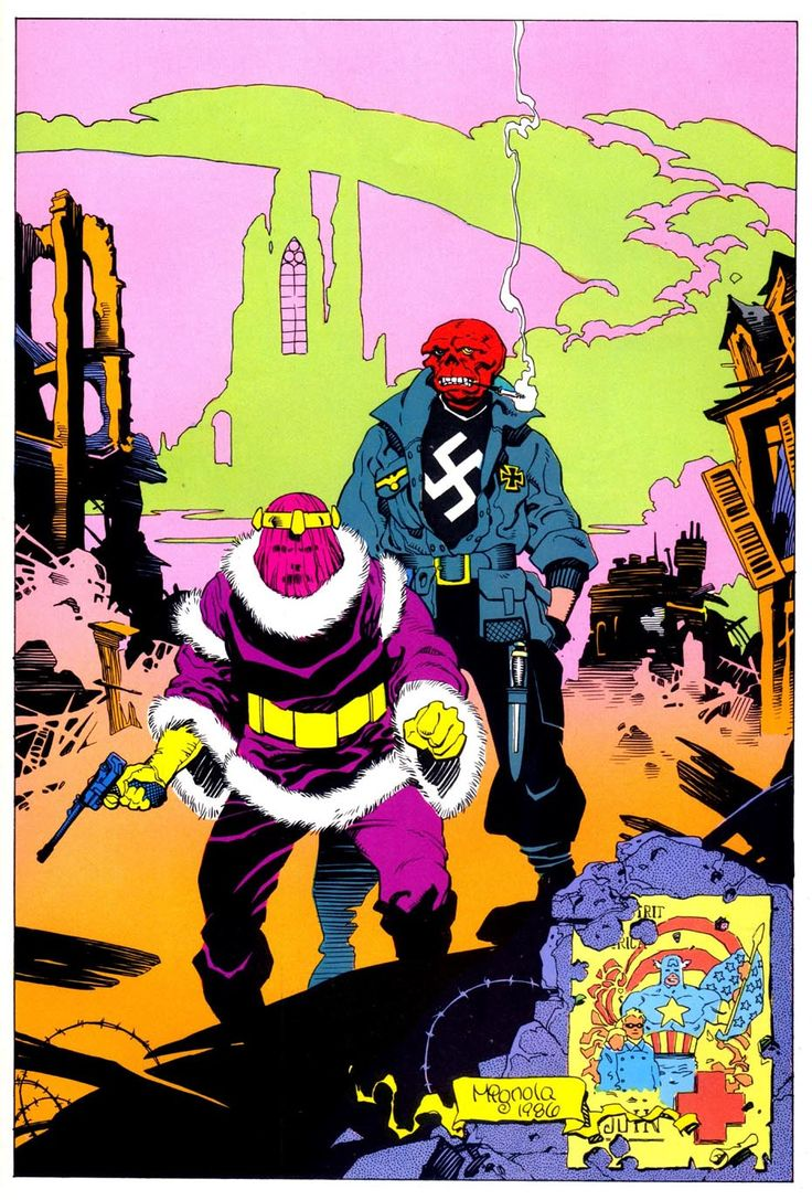 beatscomicsandlife:    Baron Zemo and Red Skull by Mike Mignola