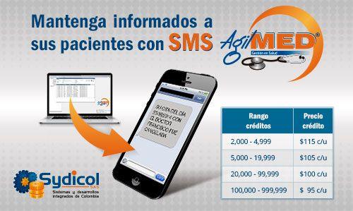 Informe automáticamente a sus pacientes sobre sus próximas citas médicas a través de SMS AgilMED | #Software #SMS | http://www.sydicol.com.co/agilmed/complementos/informe-a-sus-pacientes-con-sms-agilmed/