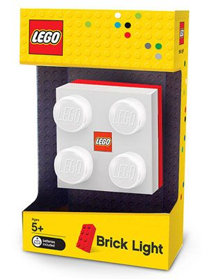 $13 Bright Idea (5+) - For Lego-lovers of any age, a chunky battery-powered Brick Light designed for portability. It's also great propped on a nightstand or even mounted on a wall. Lighten up!