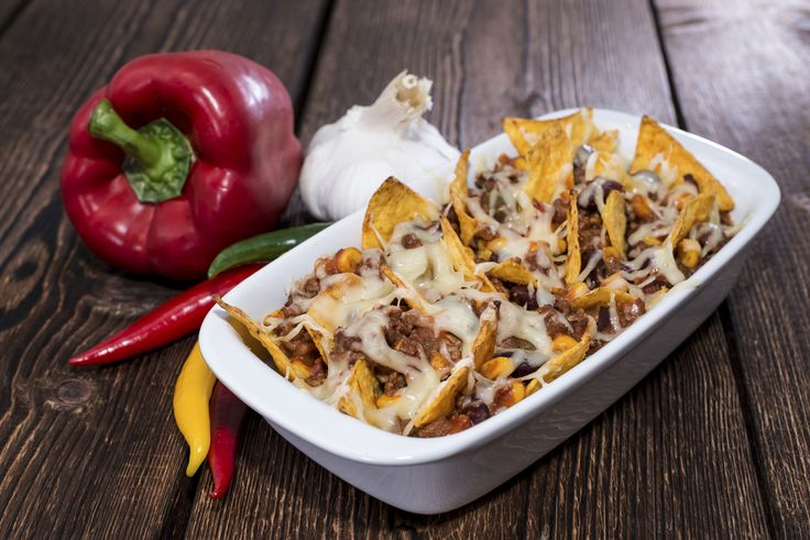 Irresistible: Nachos baked with cheese