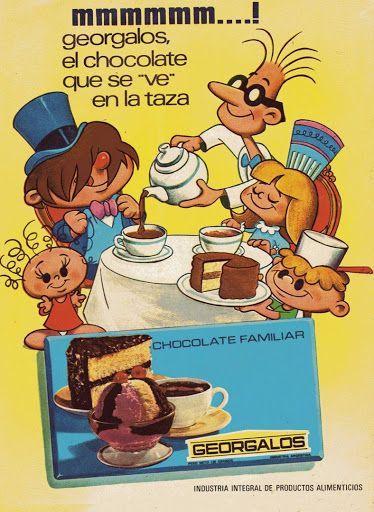 Antigua publicidad de chocolates - Argentina