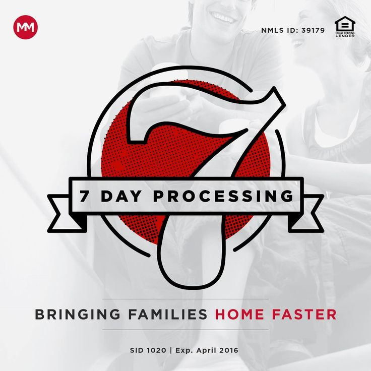 You've probably never heard of a mortgage company whose goal is to get your loan processed in 7 days, but that's exactly what Movement Mortgage delivers. We believe that faster processing can and should be done in order to get families in homes quickly to create a positive, referable lending experience for everyone involved. Our 7 Day Processing standard is our specialty, and it works in your favor.