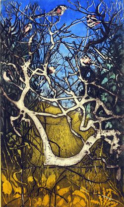 Julia Manning....etching and woodcut.