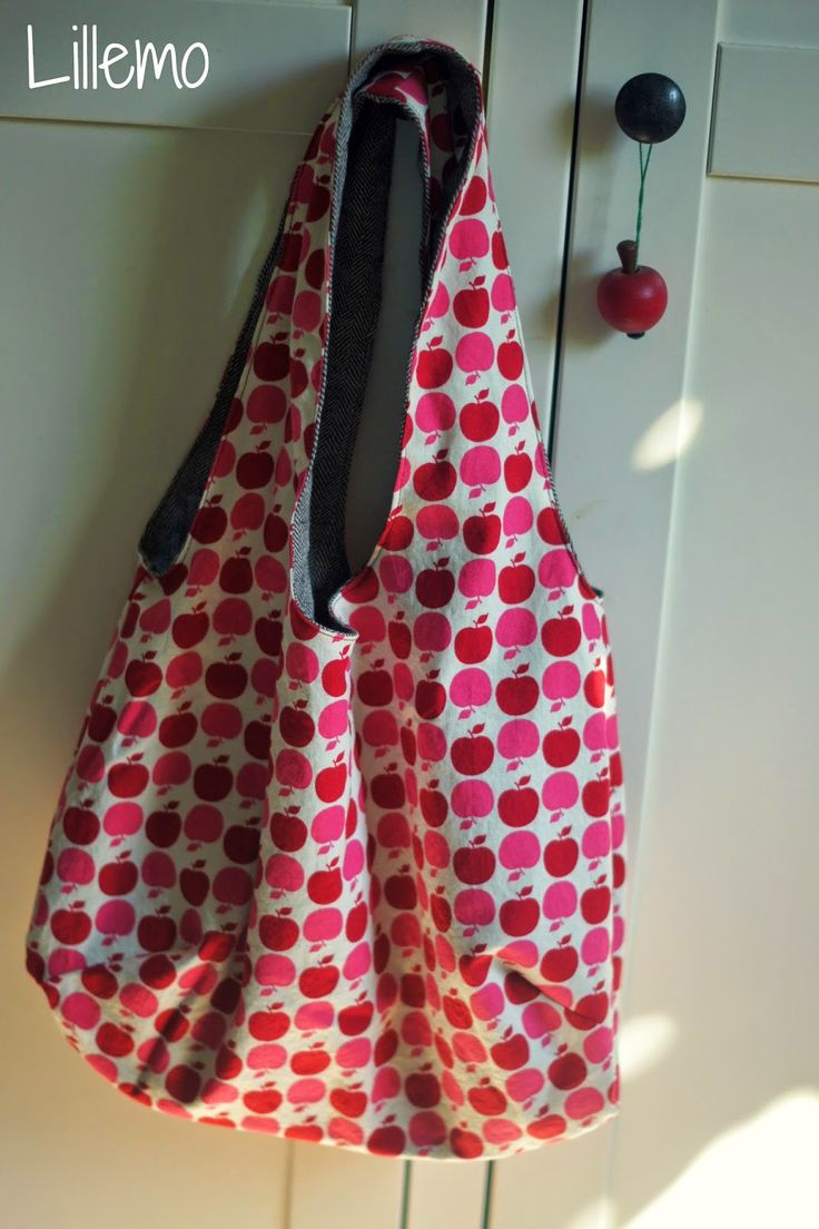 Ich habe noch so eine Tasche nach dieser Anleitung  genäht :-)   Diesmal aus Lieblings-Äpfeln und mit festem Fischgrät kombiniert,   s...