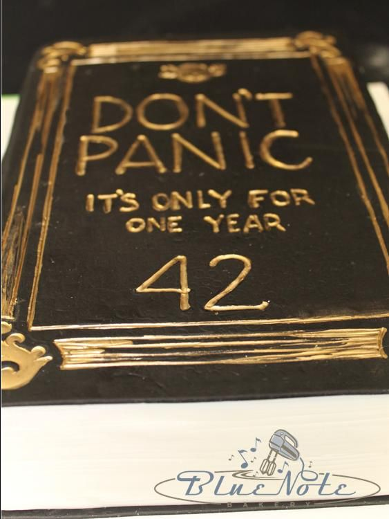 Don T Panic Hitchhiker S Guide To The Galaxy 42nd