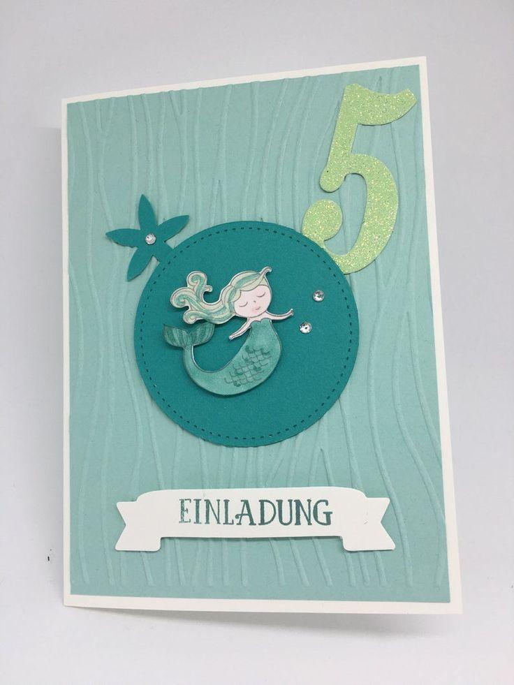 "einladung kindergeburtstag ""meerjungfrau"" einladungskarten"