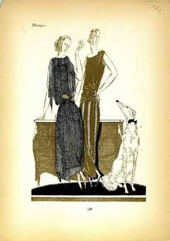 Two Ladies and a Borzoi
