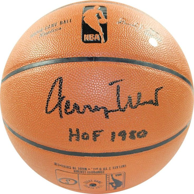 Jerry West Signed NBA I/O Basketball w/ HOF Insc
