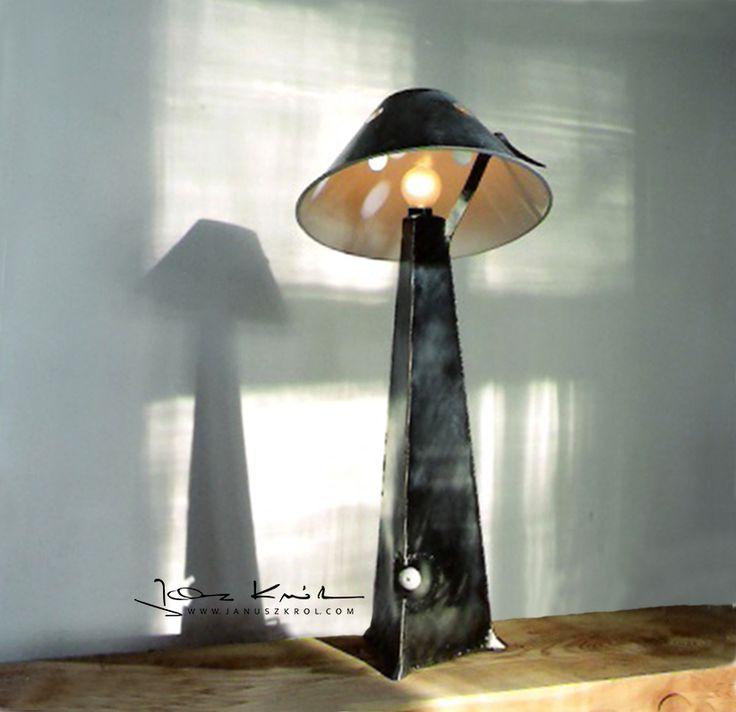 Table lamp designed by artist Janusz Król