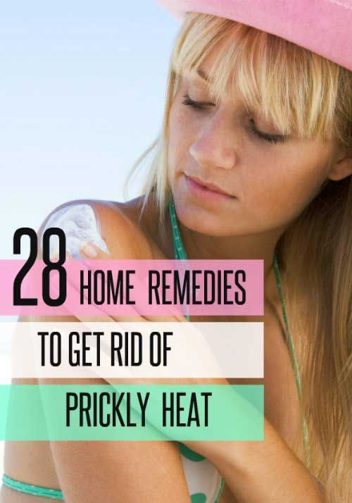 There are a number of home remedies to cure prickly heat rash that you may try easily at your home