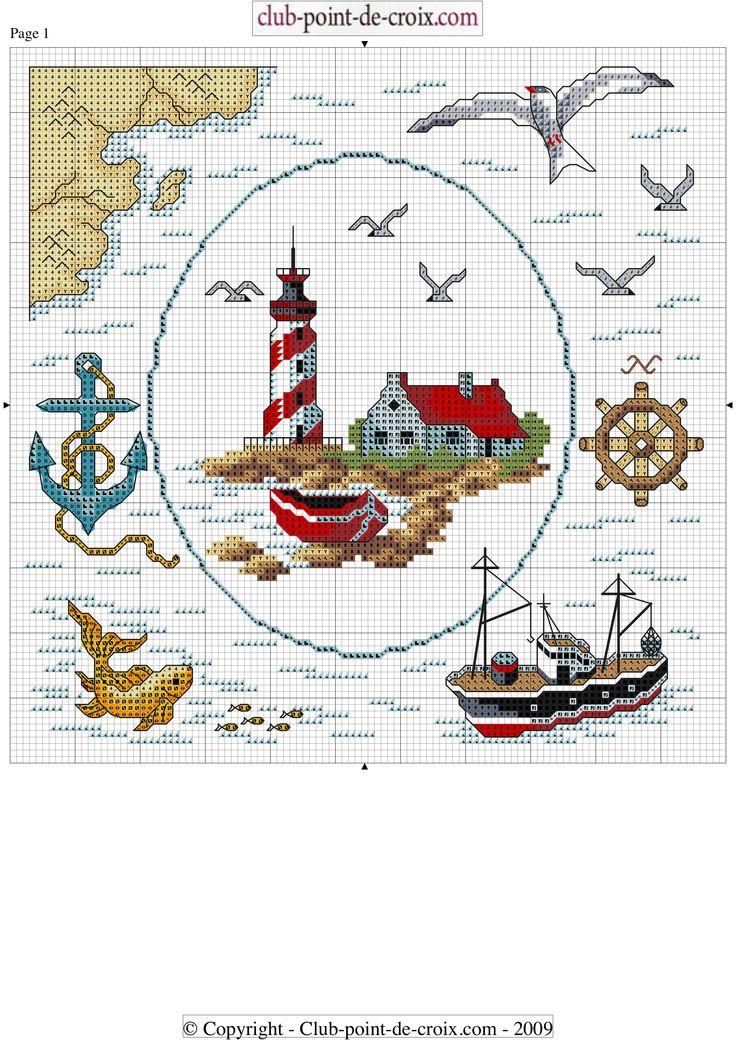 морская  тема схема