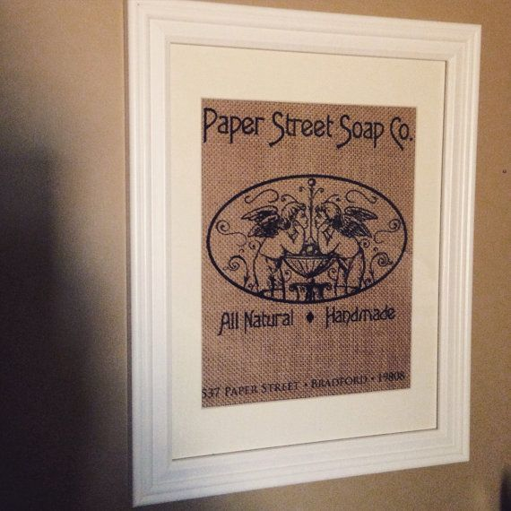 Fight Club - Paper Street Soap Co.  Burlap Print 8.5x11
