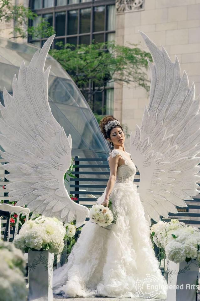Magnificent Angels Wings created by Engineered Arts for the Wedluxe Magazine  #sculpture#3dfoam#3d#toronto#wedding#event