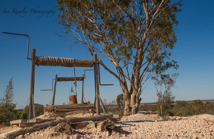 Winch used by miners at Lightning Ridge