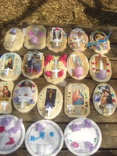 Holy water fonts for kids to make...