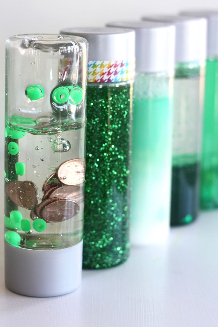 St Patricks Day Science Discovery Bottles and STEM Activity for kids