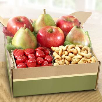 Fruit and Nut Gift Box. See more gifts at www.pro-gift-baskets.com!