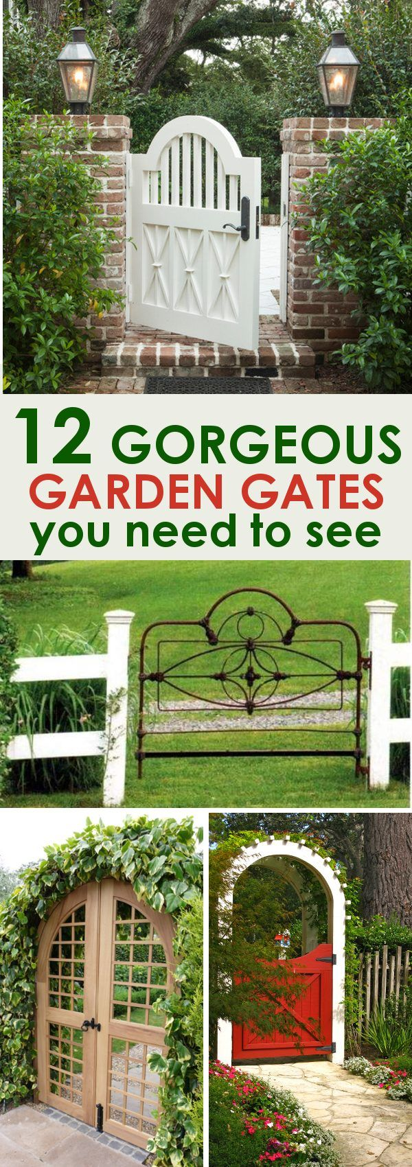 Garden Gates: 12 Garden gates for you to drool over and build yourself! These garden gate ideas will inspire you and help you create the most beautiful garden space for your home.