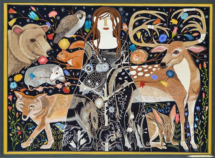 Medium: Textile works->Fabric Aplique ARTIST: Chris Roberts-Antieau Untitled