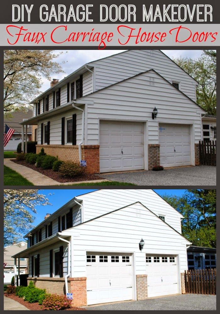 Diy carriage garage doors using vinyl can also be done for Build carriage garage doors