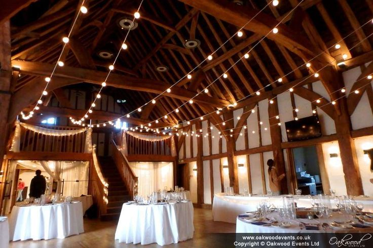 Festoon zig zag canopy at the Tudor Barn Burnham