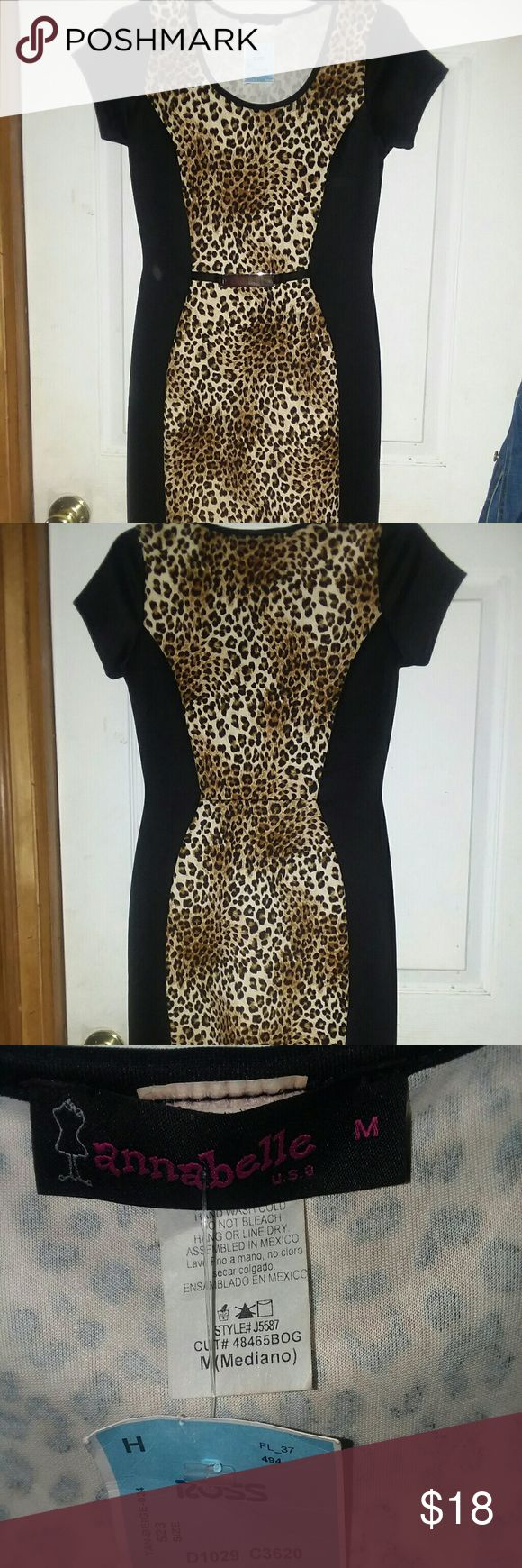 ANNABELLE animal print body con ANNABELLE animal print body con, brand new,never used with tag ,size M fits perfectly Annabelle Dresses Midi