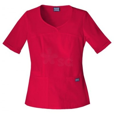 Cherokee Workwear Novelty V-Neck Top...a great fit that includes a cell phone pocket