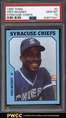 1985 Tcma Syracuse Chiefs Fred Mcgriff Rookie Rc 2 Psa 10 Gem Mint