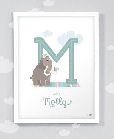 Personlig namntavla - Molly - 30×40cm