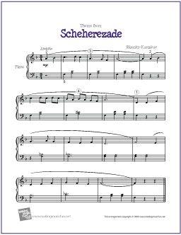 Scheherezade (Rimsky-Korsakov) | Free Sheet Music for Piano - http://makingmusicfun.net/htm/f_printit_free_printable_sheet_music/scheherezade-piano.htm