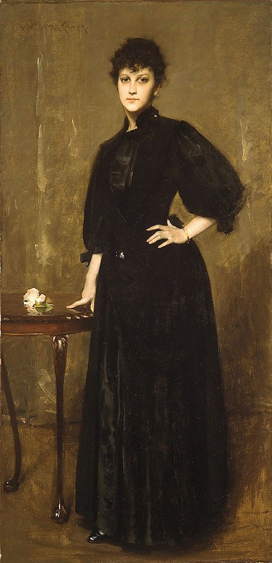 """""""Lady in Black"""", 1888, by William Merritt Chase (American, 1849-1916)"""