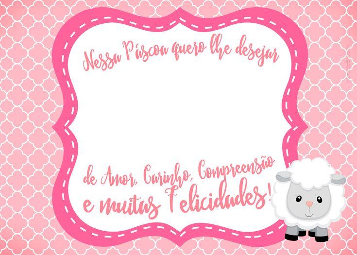 Cartão Bis Páscoa Crista Rosa