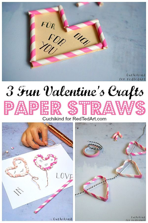 3 Fun Straw Crafts For Valentine S Day For Teachers Straw Crafts