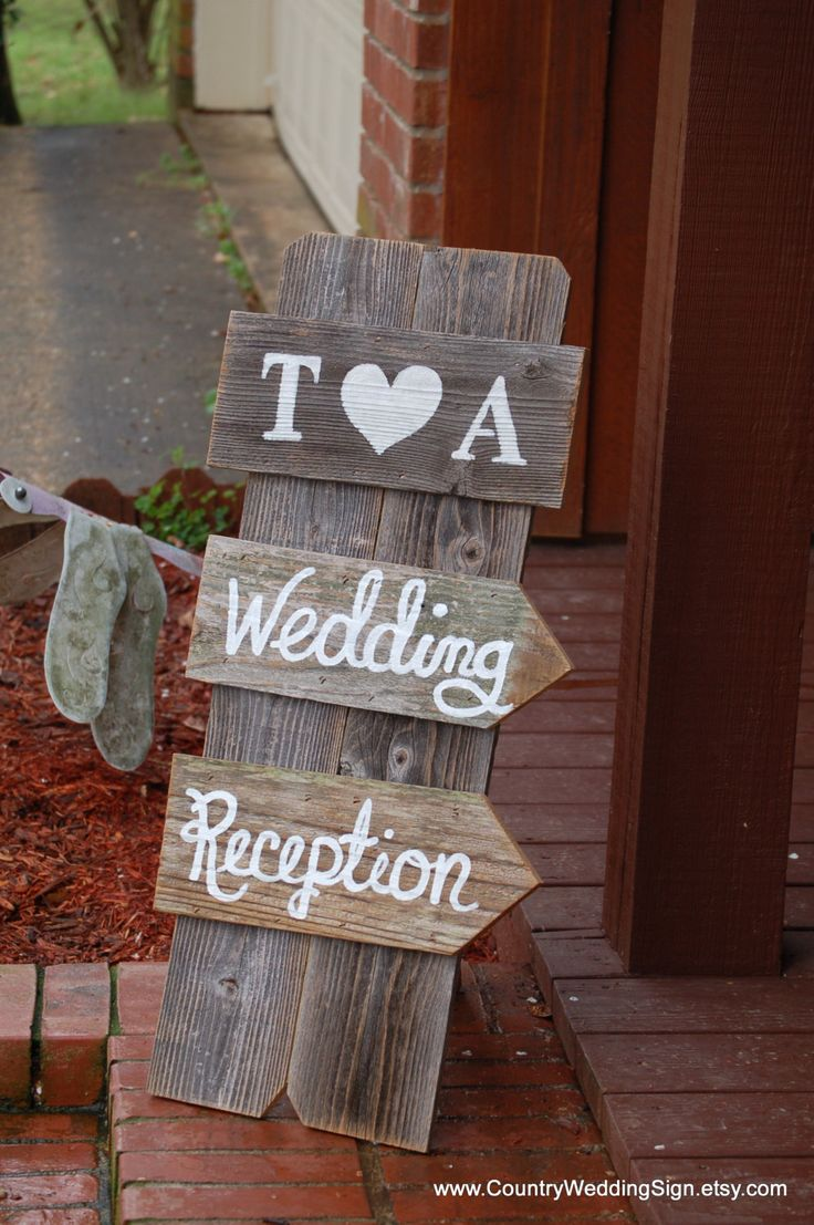 Wedding Reception Sign Self Standing Indoor Wedding Reception Signs Rustic Country Wedding Sign Reception Decorations Signage Barnwood by CountryWeddingSign on Etsy https://www.etsy.com/listing/184292135/wedding-reception-sign-self-standing