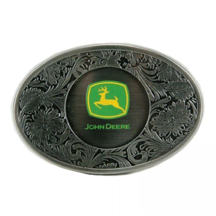 John Deere Western Enamel Logo Buckle | RunGreen.com