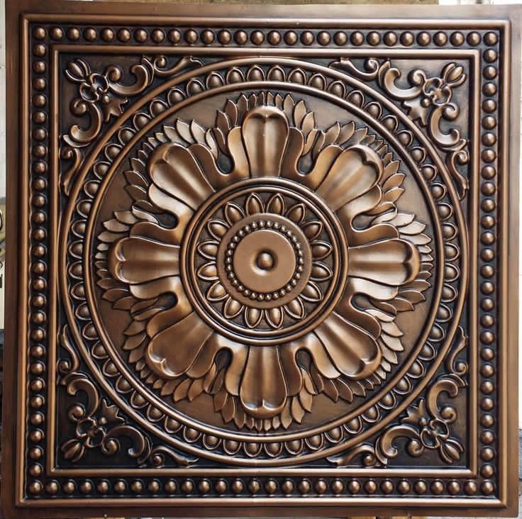 PL17 Faux finished aged 3D embossed ceiling tiles antique copper Interior wall panel store cafe pub decor ceiling panels 10tiles/lot by Fauxpaintceilingtile on Etsy