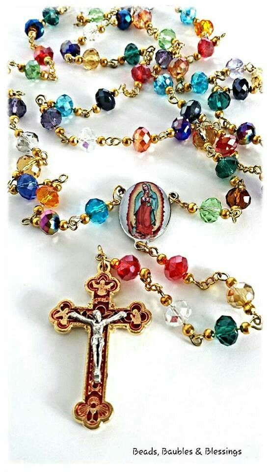 Rosary - Our Lady of Guadalupe Like us on Facebook;  Beads, Baubles & Blessings Etsy shop;  beadsbaublesblessing