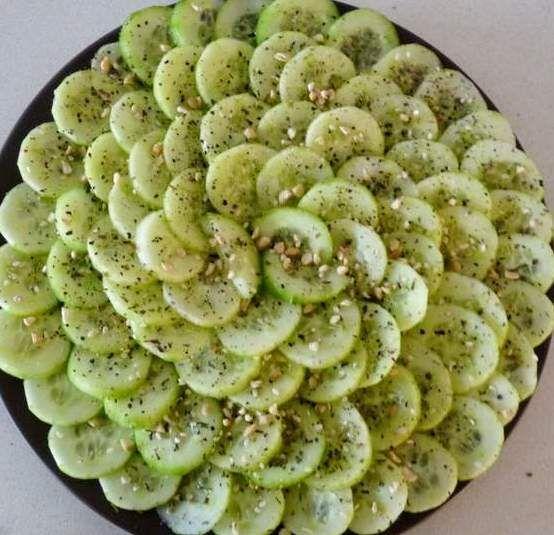 Moroccan-food-cucumber-zaatar-salad - Maroc Désert Expérience tours http://www.marocdesertexperience.com