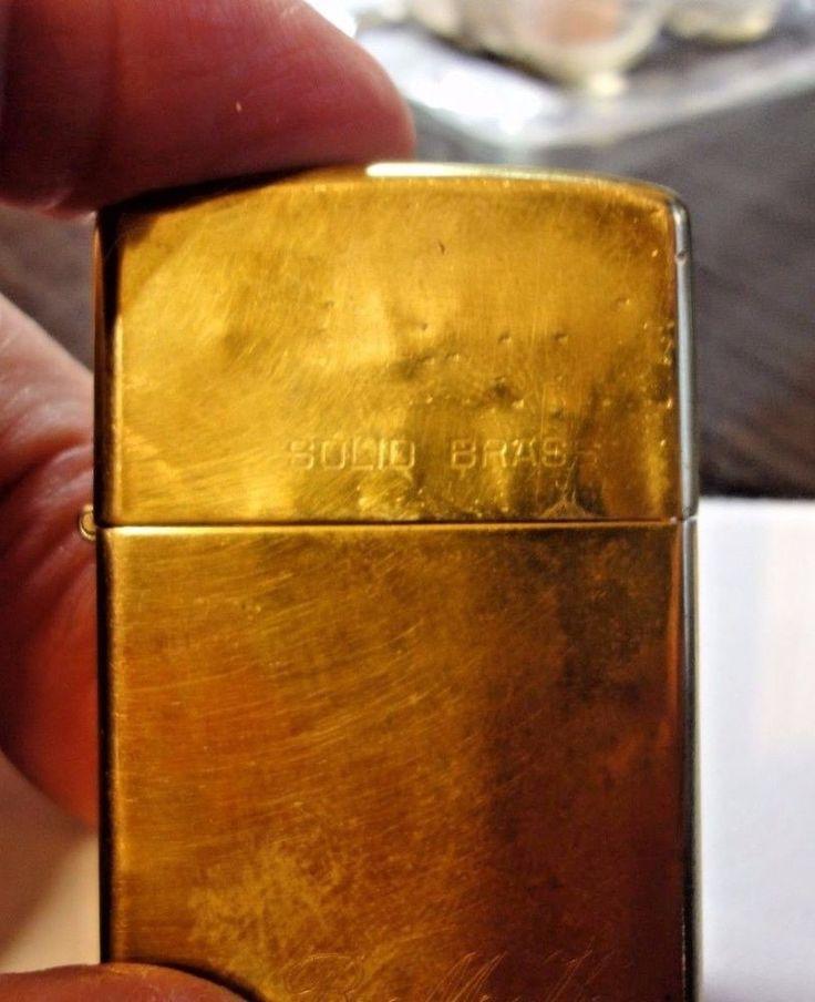 Zippo Commemorative Lighter 1932-1986 Solid Brass  #Zippo