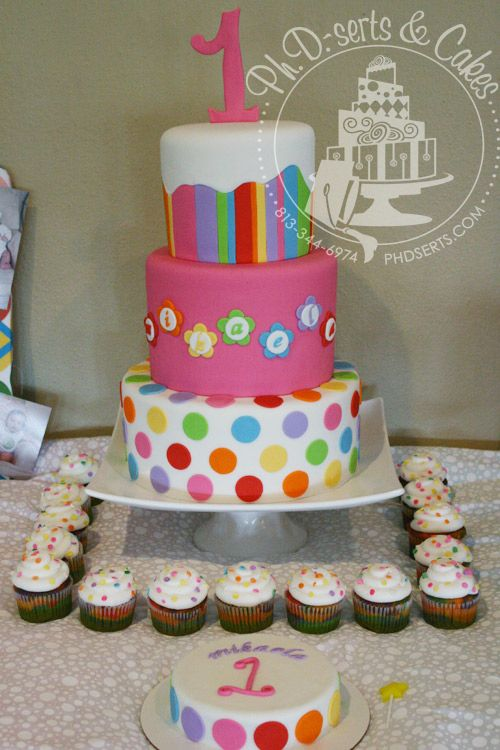 12 best images about rainbow birthday cakes on pinterest for Dots and stripes party theme