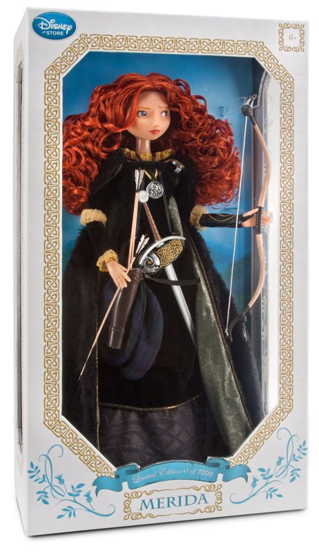 """Limited Edition Merida Doll -- 18"""" H -  No. You're never to young to like dolls... especially Disney dolls ;)."""