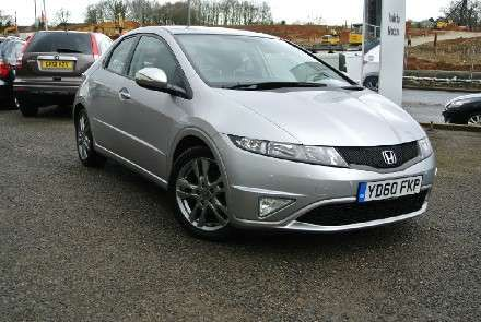 Used 2010 (60 reg) Silver Honda Civic 1.8 i-VTEC Si 5dr Auto for sale on RAC Cars