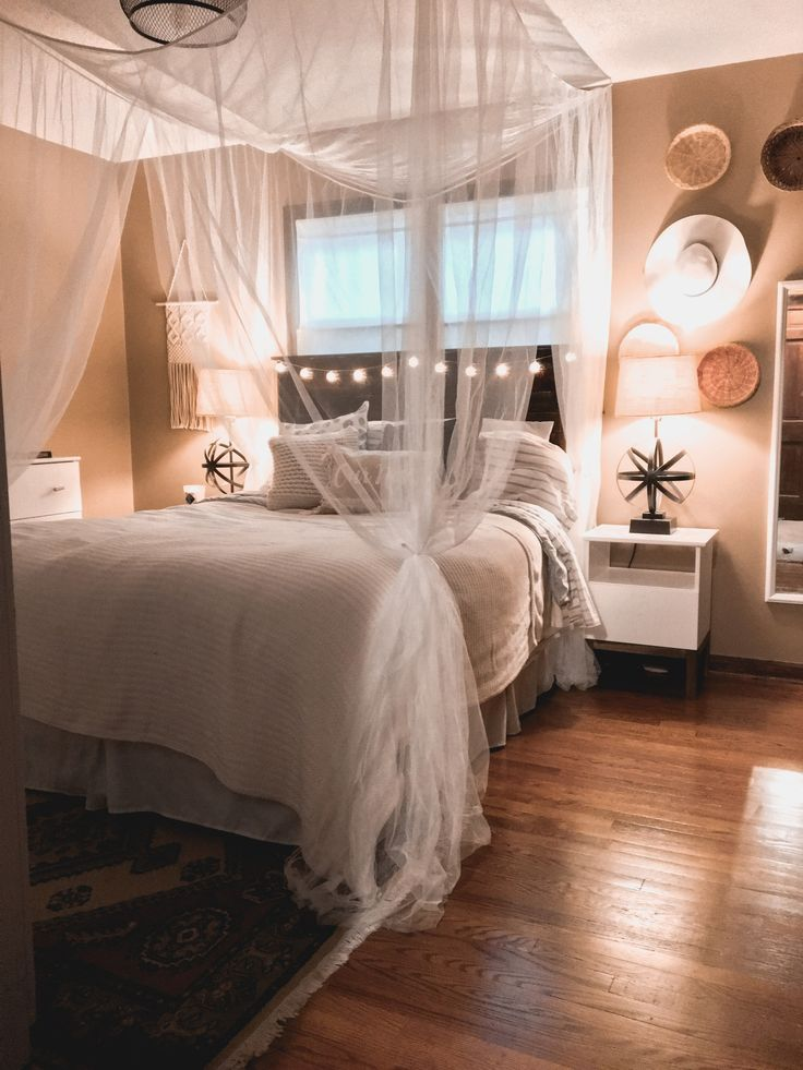 Cozy Boho Hygge Bedroom Gets Updated With Canopy And New Ikea Furniture Hygge Bedroom Chic Bedroom Stylish Bedroom Design
