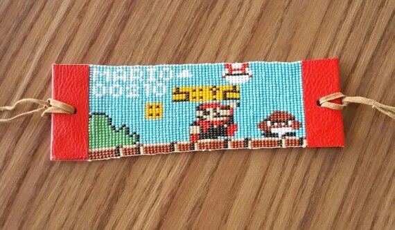 Super mario loom bead bracelet pattern